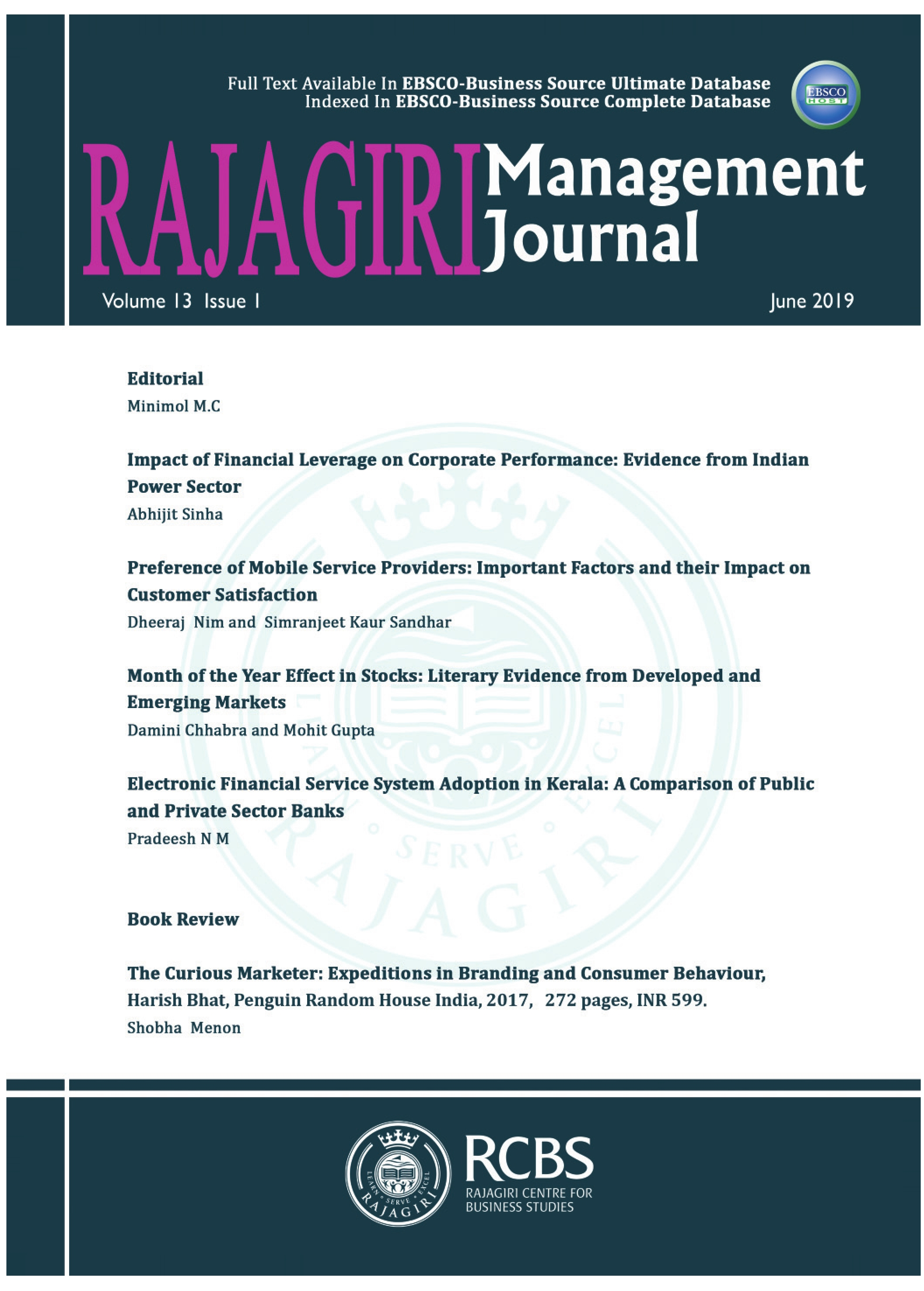 Rajagiri Management Journal